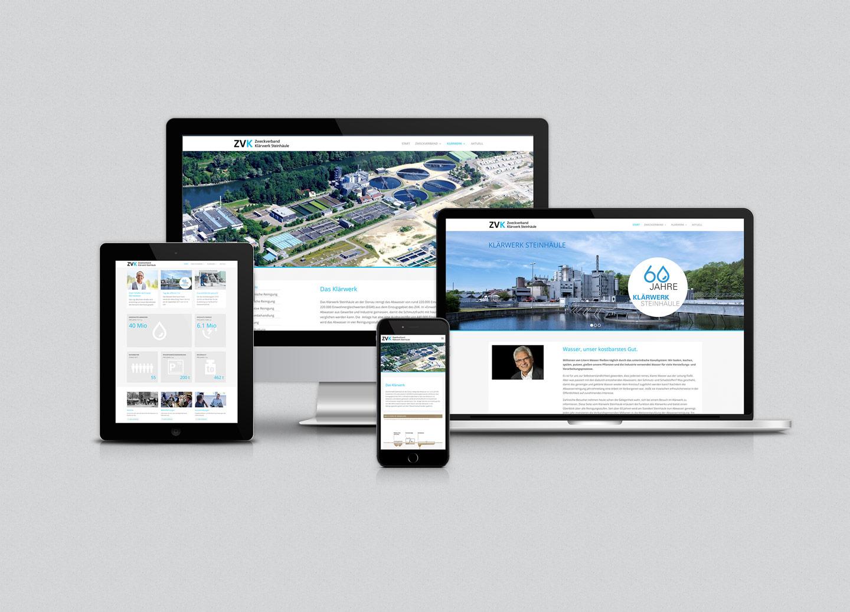 Internetauftritt ZVK-Klärwerk Steinhäule